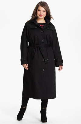 London Fog Long Trench Raincoat with Liner (Plus Size) (Online Only)
