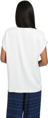 Vince Satin Tee in Ivory