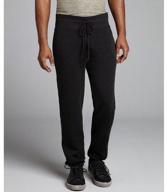 Alternative Apparel black cotton blend drawstring 'Costanza' sweatpants
