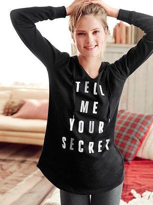Victoria's Secret Graphic Fleece Tunic