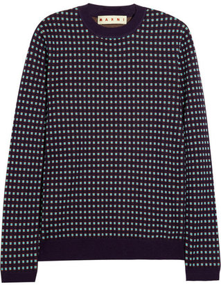 Marni Checked knitted sweater