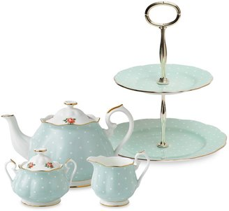 Royal Albert Polka Rose Tea Set & Serveware