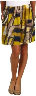 Kenneth Cole New York Urban Sprawl Print Pull-On Skirt