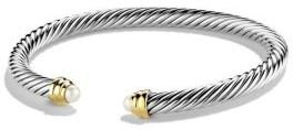 David Yurman Cable Classics Bracelet with Pearls and Gold $550 thestylecure.com