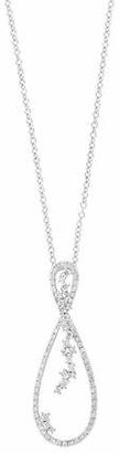 Effy 14K White Gold Loop Pendant Necklace with 0.67 TCW Diamond