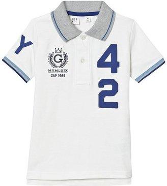 Gap Off White Pique Polo Shirt