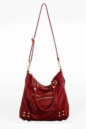 Linea Pelle Medium Dylan Leather Zip Tote in Crimson Red