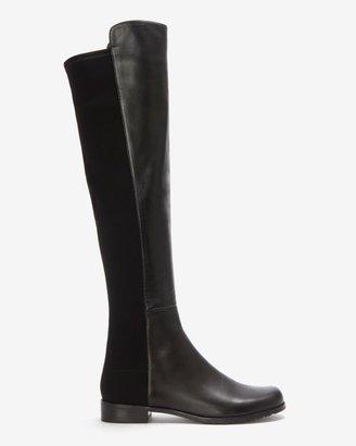 Stuart Weitzman OTK Leather Boot: Black