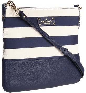Kate Spade Grove Court Stripe Cora (Natural/Midnight) - Bags and Luggage