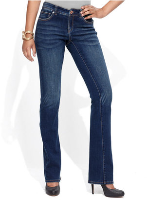 INC International Concepts Petite Jeans, Curvy-Fit Bootcut, Percy Wash