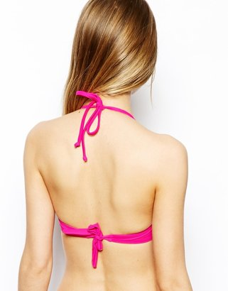 Vero Moda Pink Jungle Juice Bandeau Bikini Top