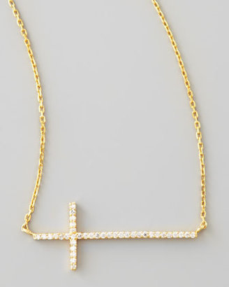 Tai Golden Pave Cross Necklace