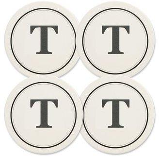 Mikasa Monogram T Coasters, Set of 4