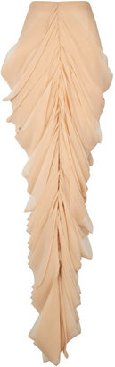 J.W.Anderson Beige Silk Mermaid Drape Skirt