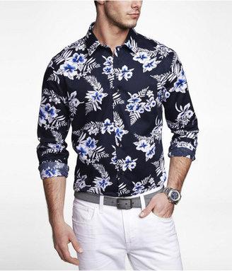 Express Extra Slim Floral Print Shirt