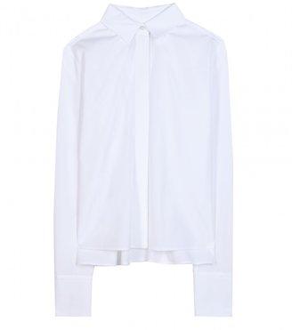 Valentino Piqué-trimmed cotton shirt
