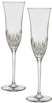 Waterford Lismore Essence Crystal Champagne Flute/Set of 2