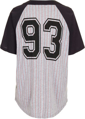 Topshop Baseball Tee By Project Social T