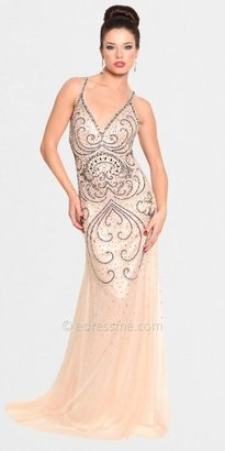 Atria Glamorous Long Beaded Vintage Prom Dresses
