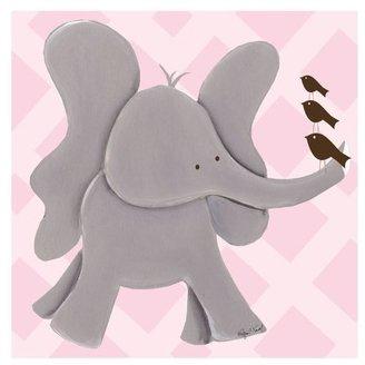 "Doodlefish Gallery Wrapped 18""x18"" Wall Art - Ellie Elephant"