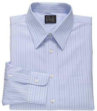 Jos. A. Bank Traveler Point Collar Pinpoint Stripe Dress Shirt Big or Tall