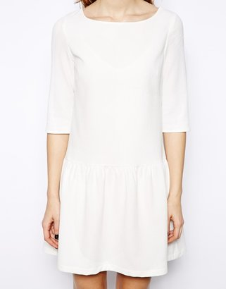 French Connection Tennis Crepe Dress with Drop Waist