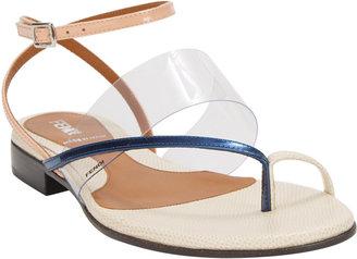 Fendi Asymmetric-Strap Flat Sandals