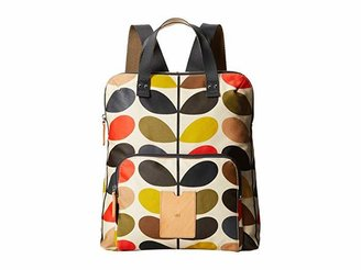 Orla Kiely Matt Laminated Classic Multi Stem Backpack Tote
