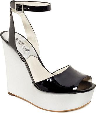 MICHAEL Michael Kors Shoes, Lucia Platform Wedge Sandals