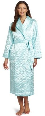 Casual Moments Women's Quilted Wrap Robe