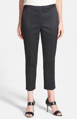 Chaus Puckered Jacquard Crop Pants