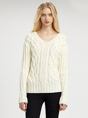 Yigal Azrouel Cut 25 by Cable-Knit Sweater