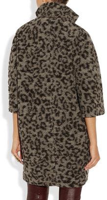 Thakoon Leopard-print wool-blend coat