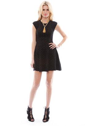 Torn By Ronny Kobo Malu Basquet Weave Jacquard Dress