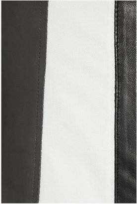 Helmut Lang Leather and stretch-canvas jacket