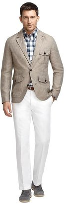 Brooks Brothers Linen Patch Jacket