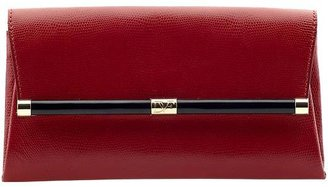 Diane von Furstenberg 440 Embossed Lizard Leather Envelope Clutch