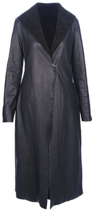 Ma+ long unlined leather coat