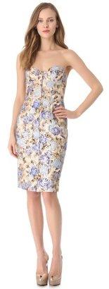 Philosophy di Alberta Ferretti Strapless Floral Dress