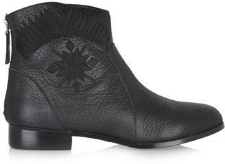 Twelfth St. By Cynthia Vincent Goldie embroidered leather ankle boots