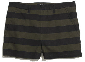 Madewell Tailored Shorts in Stripe
