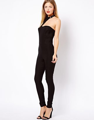 Asos Jumpsuit with Buckle Neck Detail