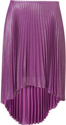 Topshop Shiney Purple Pleated Skirt