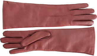 Barneys New York Whipstitch Leather Glove