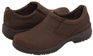 Dansko Wynn (Brown Distressed Leather) Men's Slip on Shoes