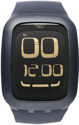 Swatch Watch, Unisex Swiss Digital Touch Black Silicone Strap 39mm SURB100