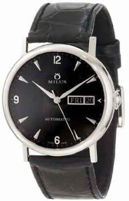 Milus Men's XEP001 Stainless Steel Automatic Watch with Leather Band