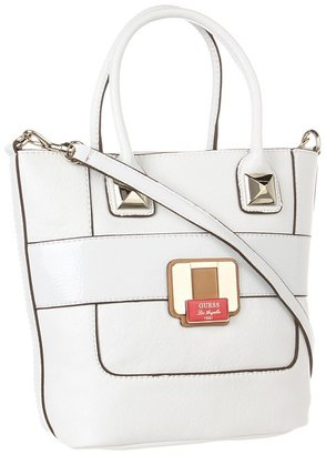 GUESS Durado Small Carryall (White) - Bags and Luggage