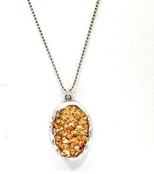 "Chan Luu NS-8728"" Silver Chain with Agate Pendant"