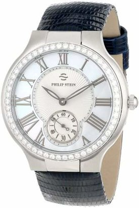 Philip Stein Teslar Unisex 42D-CMOP-ZN Stainless Steel Watch with Black leather Band